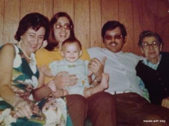 Aileen, first grandchild, 1974