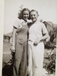 At 15 with her father, 1938