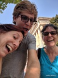 Selfie fun waiting for the National Portrait Gallery to open