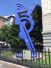 sculpture outside the Portrait Gallery