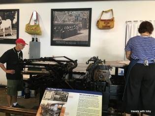 an old printing press-newspaper museum