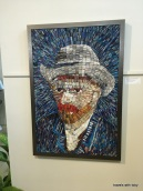 Van Gogh made from discarded art magazines