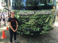 girl with Wisconsin Spudmobile