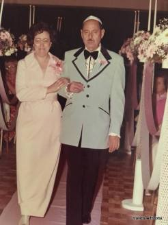 goldie, nate at joel's wedding 1973