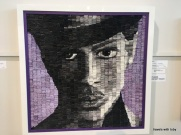 Prince made out of folded up magazine pages, art building-MN state fair
