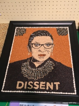 Ruth Bader Ginsberg, crop art-MN state fair