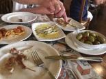 tapas meal - Mirador del Arco de Cuchilleros, Madrid