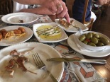 tapas meal, Madrid