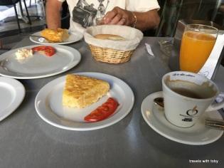 Tortilla española for breakfast in Málaga