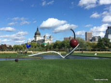 Spoonbridge and Cherry - Claes Oldenburg and Coosje van Bruggen (Walker Sculpture Garden)