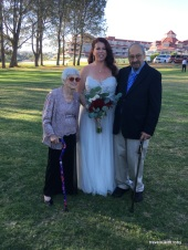 bride with her great aunt and uncle