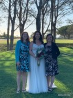 bride with her two aunts