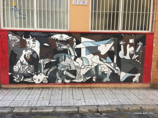 great replica of Guernica, perhaps Picasso's most famous portrait