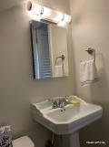 sink, medicine cabinet