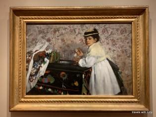 Portrait of Mlle. Hortense Valpinçon - Degas