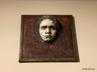 Beethoven above a doorway